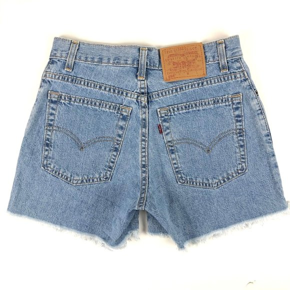 Vintage 90's Made in USA Levi's 555 Denim Shorts
